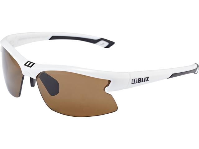 Bliz Motion Glasses for Small Faces shiny white/amber